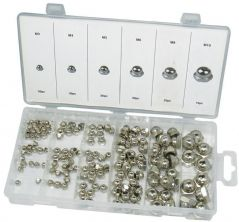 DURATOOL D01902  Hex Nut Set Domed 150Pc